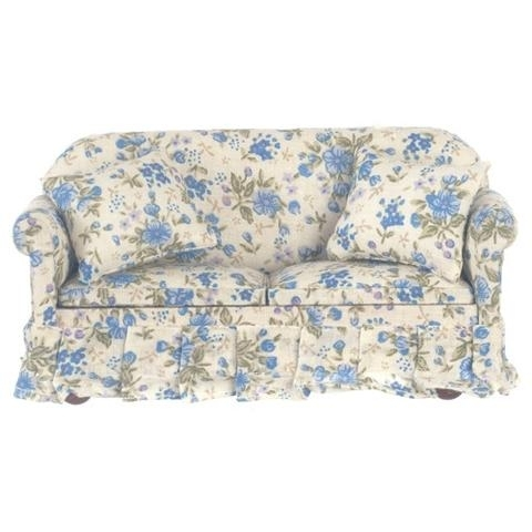 Fascinating Benches Art Designs Also Blue Floral Chintz Overstuffed Within Chintz Floral Sofas (Image 3 of 10)