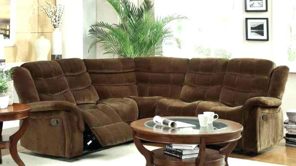 Fashionable Small Reclining Sectional Recliner Sectional Sofas Small Regarding Sectional Sofas For Small Spaces With Recliners (Image 3 of 10)