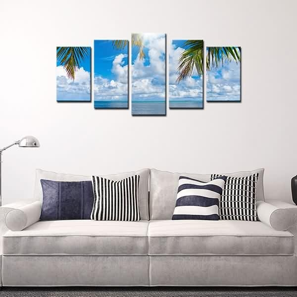 Fast Delivery For Canvas Prints Blue Sky White Clouds Wall Art Regarding Canvas Wall Art Of Philippines (Image 8 of 20)