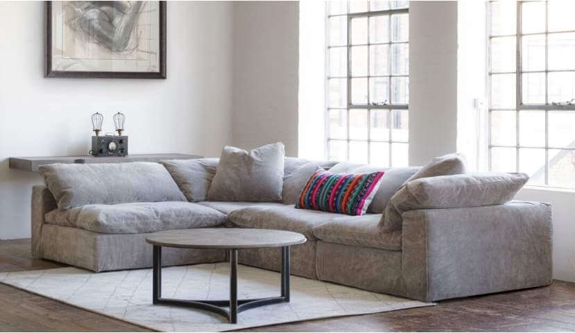 Feather Extra Deep Fabric Corner Sofa | Darlings Within Fabric Corner Sofas (Image 7 of 10)