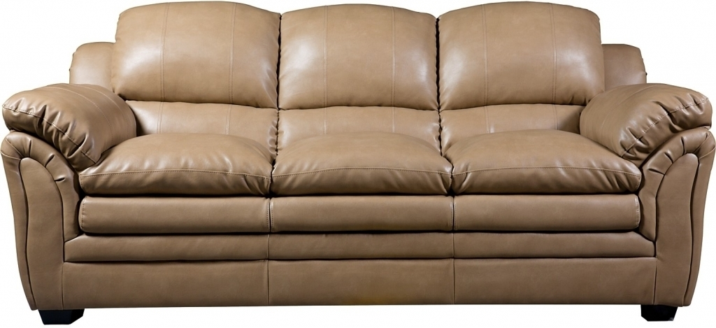 Fierce Taupe Bonded Leather Sofa The Brick Within Taupe Leather Sofa With Regard To The Brick Leather Sofas (Image 4 of 10)