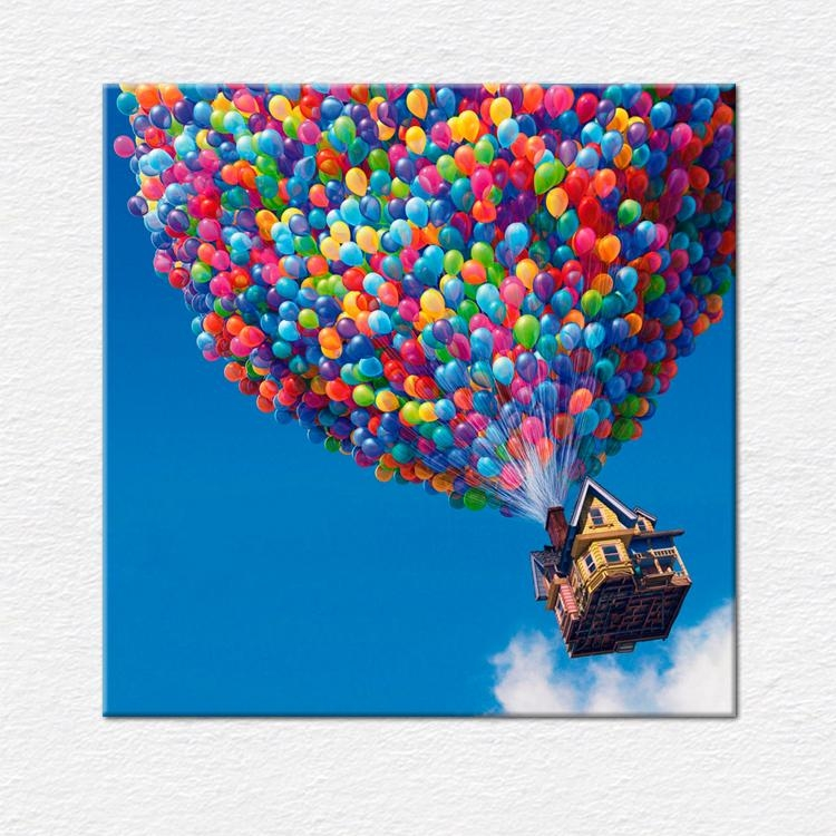 "Film Canvas Pictures | Flying House From Pixar's 'up' ""movie In Movies Canvas Wall Art (Image 9 of 20)"