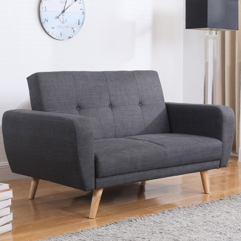 Fjørde & Co Farrow 2 Seater Clic Clac Sofa Bed & Reviews | Wayfair.co (Image 6 of 10)