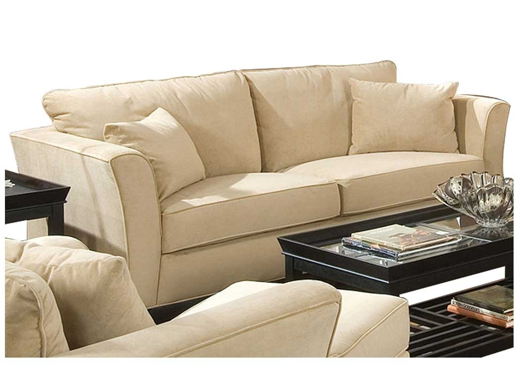 Flax Furniture – Irvington, Nj Park Place Cream & Cappuccino Durable Within Cream Colored Sofas (Image 8 of 10)