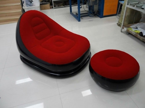 Flocked Pvc Inflatable Chair And Sofa For Both Adu Manufacturers In Inflatable Sofas And Chairs (Image 5 of 10)
