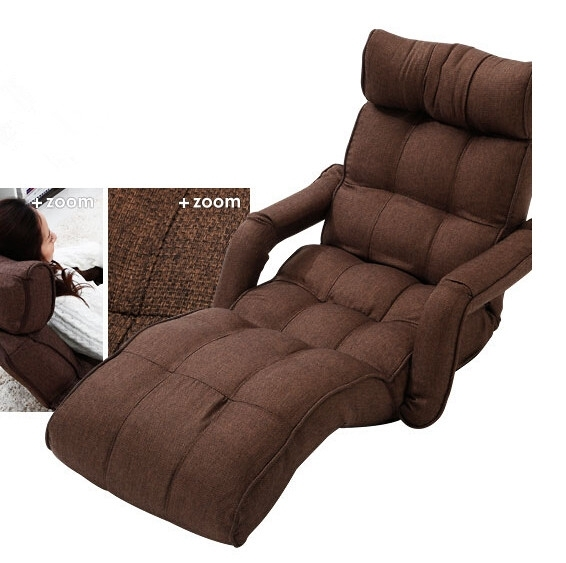 Floor Foldable Chaise Lounge Chair 6 Color Adjustable Recliner For Sofa Lounge Chairs (Image 6 of 10)