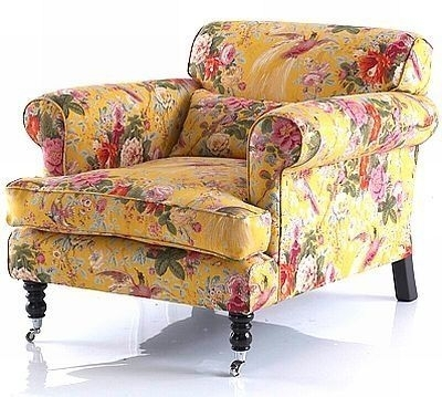 Floral Chintz Sofa | Country English – Pretty Yellow Chintz Chair Within Chintz Fabric Sofas (Image 7 of 10)