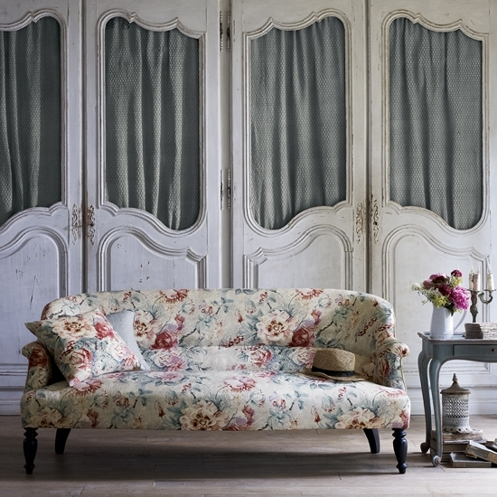 Floral Print Sofa Trend For Spring 2015 | Ideal Home For Chintz Covered Sofas (Image 6 of 10)