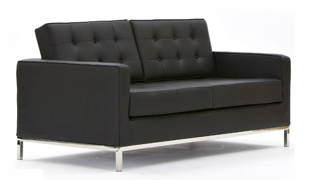 Florence Knoll 2 Seater Leather Sofa Regarding Florence Leather Sofas (Image 4 of 10)