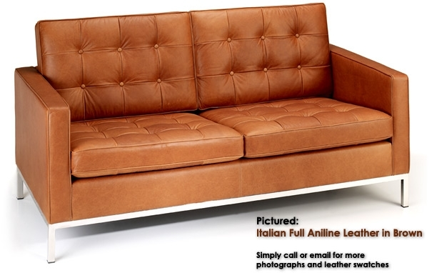 Florence Knoll 2 Seater Sofa: Designer Sofas From Iconic Interiors With Florence Leather Sofas (Image 5 of 10)