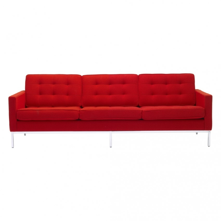Florence Knoll 3 Seat Sofa Cato Fabric – The Conran Shop Regarding Florence Knoll 3 Seater Sofas (Image 3 of 10)