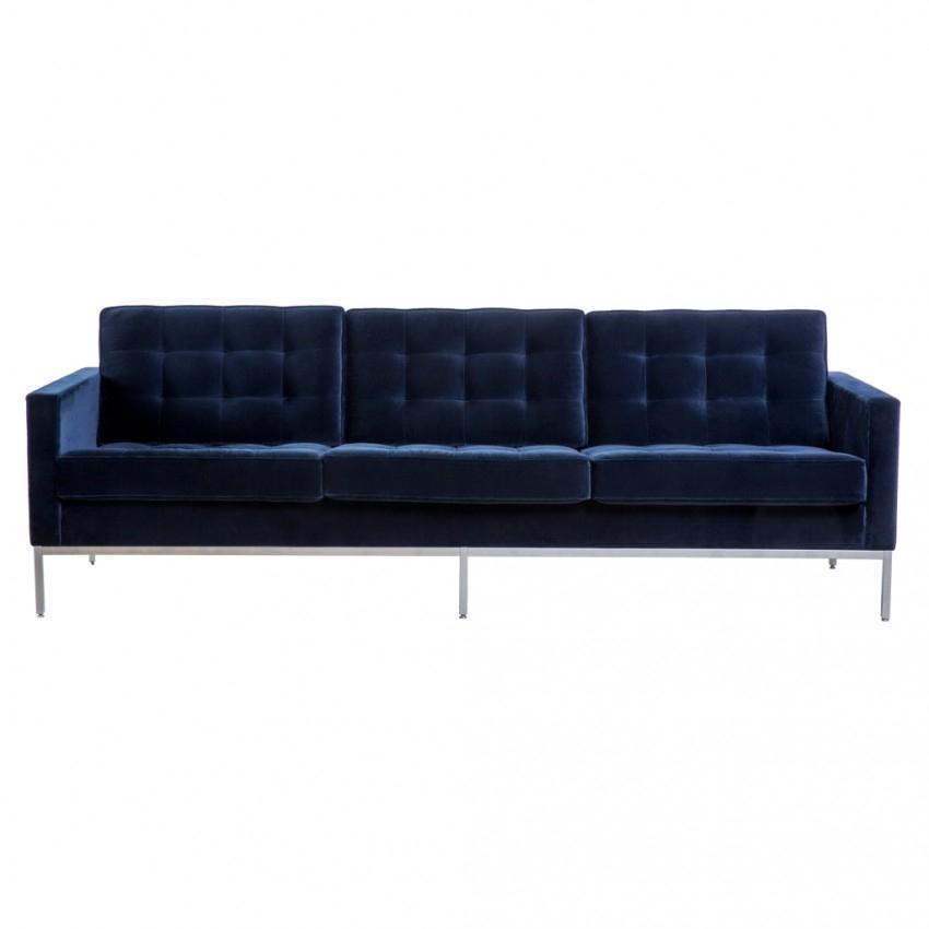 Florence Knoll 3 Seat Sofa York Velvet – The Conran Shop Pertaining To Florence Knoll 3 Seater Sofas (Image 4 of 10)