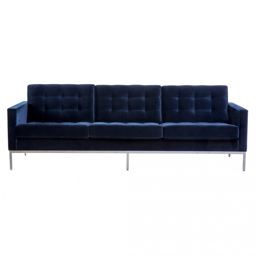 Florence Knoll 3 Seat Sofa York Velvet – The Conran Shop Within Florence Knoll Fabric Sofas (Image 5 of 10)