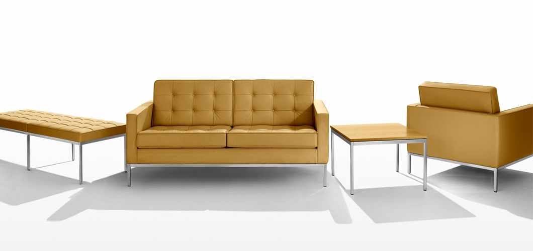 Florence Knoll Relaxed Sofa | Knoll In Florence Knoll Leather Sofas (Image 3 of 10)