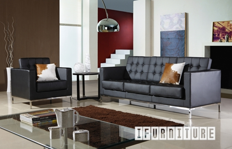 Florence Knoll Sofa Replica *italian Leather , Replica Reproduction For Florence Knoll Living Room Sofas (Image 5 of 10)