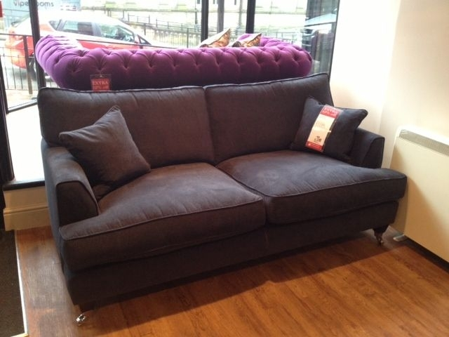 Florence Large Sofa And Footstool In Vogue Hot Pink Http://www Throughout Florence Sofas (Image 8 of 10)