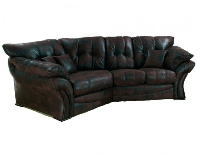 Florence Leather Look Fabric Snuggle Sofa Left Hand Facing – Corner Pertaining To Snuggle Sofas (Image 3 of 10)