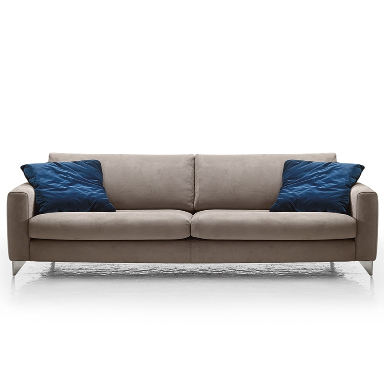 Florence Modern Italia Sofa, Grey With Regard To Florence Large Sofas (Image 10 of 10)