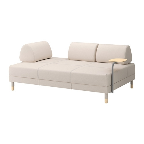 Flottebo Sleeper Sofa With Side Table – Lofallet Beige – Ikea Intended For Ikea Loveseat Sleeper Sofas (Image 1 of 10)