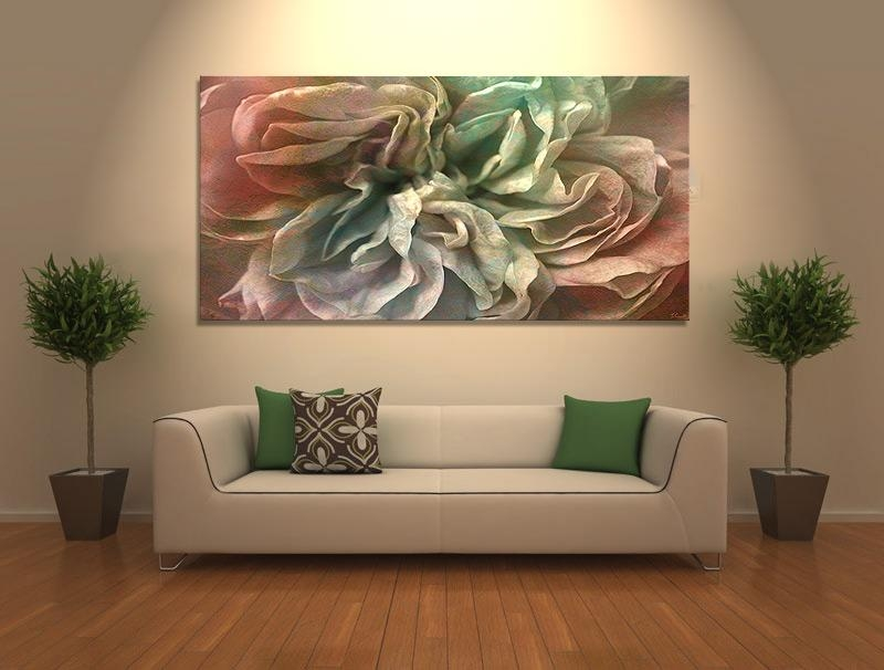"Flower Dance"" Abstract Flower Art – Large Canvas Print – Pertaining To Large Abstract Canvas Wall Art (Image 9 of 20)"