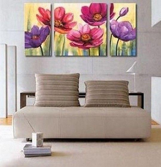 Flower Painting, Canvas Wall Art, Abstract Art, Canvas Painting With Abstract Canvas Wall Art Iii (Image 9 of 20)