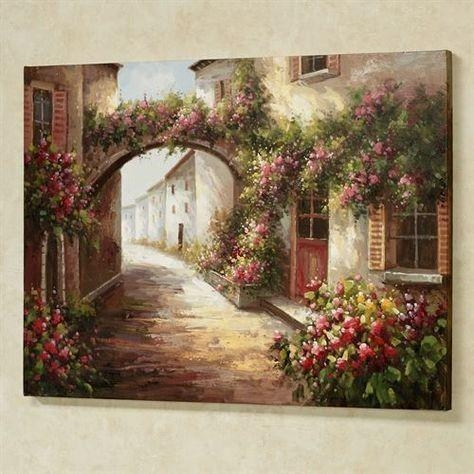 Flowered Arch Canvas Wall Art Multi Warm | Art I Love | Pinterest Within Joval Canvas Wall Art (View 18 of 20)