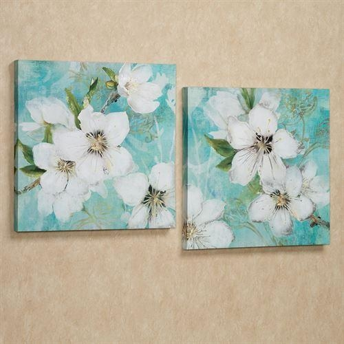 Flowers In Bloom Giclee Canvas Wall Art Set Inside Canvas Wall Art Of Flowers (View 13 of 20)