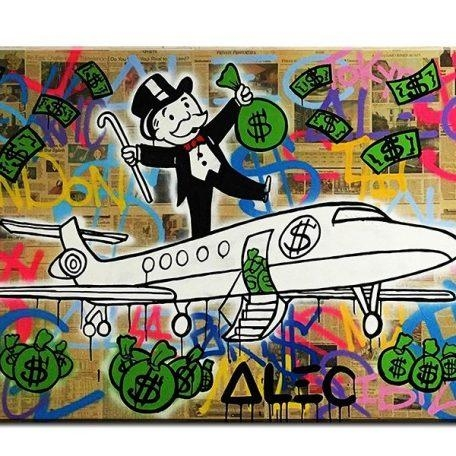 Fly Alec Monopoly Graffiti Mr Brainwashart Print Canvas For Wall Regarding Graffiti Canvas Wall Art (Image 6 of 20)