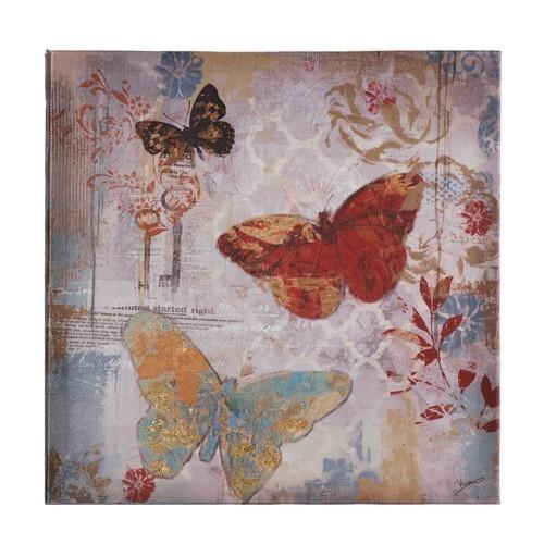 Flying Butterflies Canvas Print Wall Art | Classic Hostess In Butterflies Canvas Wall Art (Image 9 of 20)