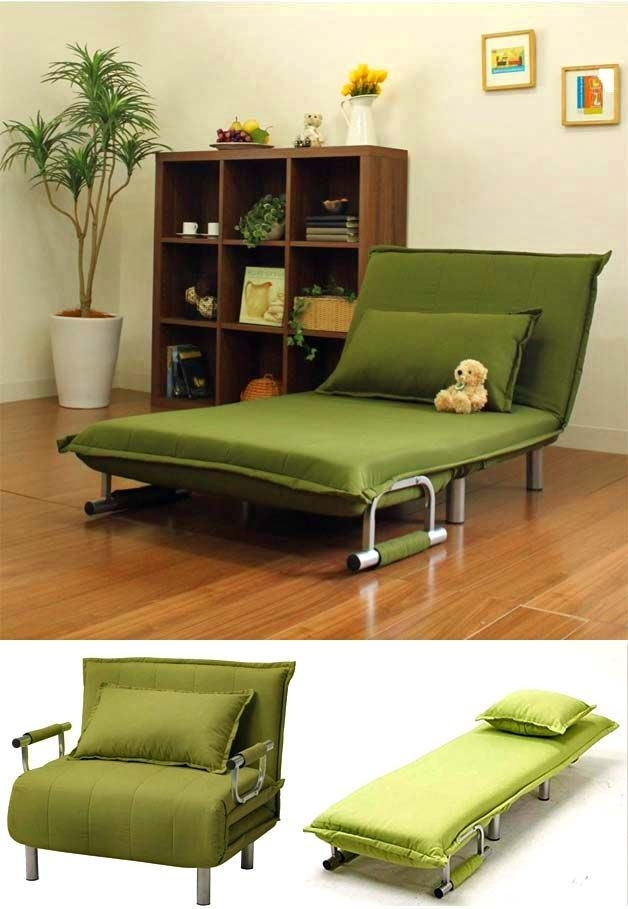 Folding Sofas, Beds And Chaise Lounges For Small Spaces | Furniture Regarding Folding Sofa Chairs (Image 3 of 10)