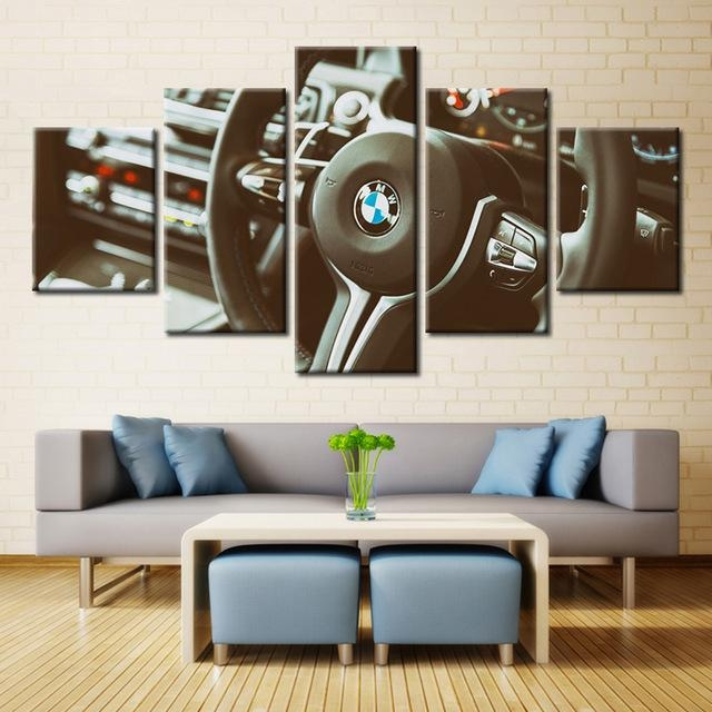Forbeauty 5 Piece Canvas Painting Spray Printings Art Picture With Regard To Bmw Canvas Wall Art (Image 9 of 20)