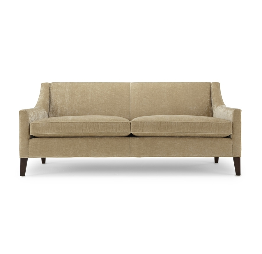 Formal Living Area: This Smaller Scale, Clean Line Sofa Can Go More In Mitchell Gold Sofas (Photo 9 of 10)