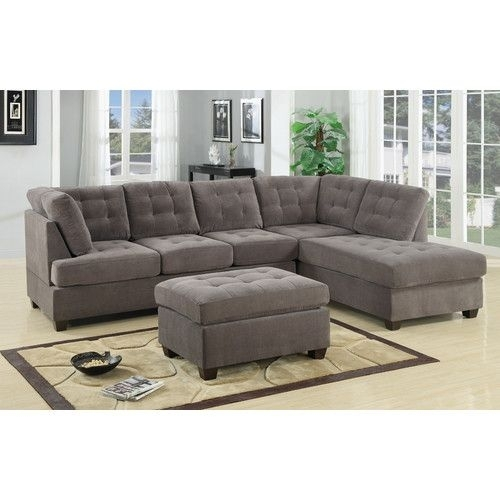 Found It At Allmodern – Dania Reversible Chaise Sectional | Brick For Dania Sectional Sofas (Image 3 of 10)