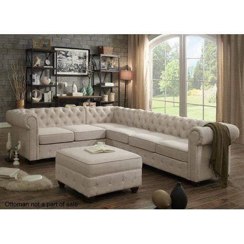 Found It At Joss & Main – Garcia Chesterfield Sectional Sofa | Home With Regard To Joss And Main Sectional Sofas (Image 5 of 10)