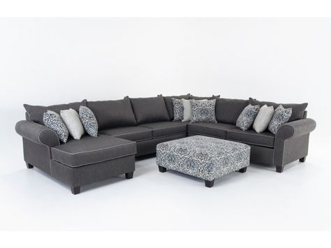 Four Seasons Daniel  Daniel 3 Piece Sectional – Jordan's Furniture Within 102X102 Sectional Sofas (Image 2 of 10)