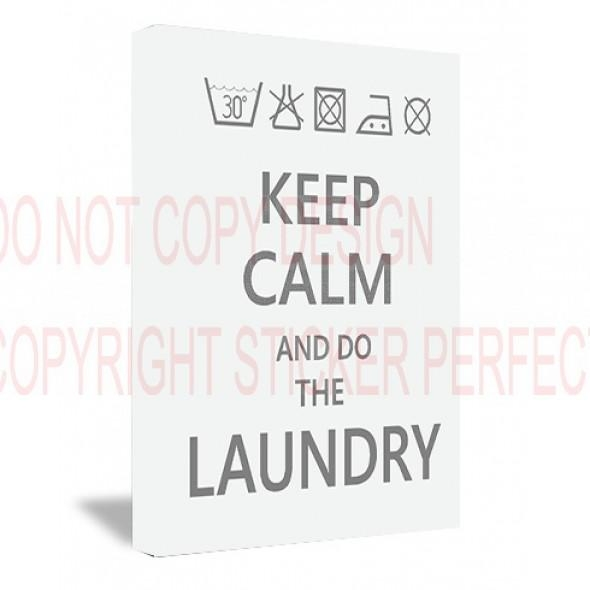 Framed Canvas Print #2 Keep Calm And Do The Laundry Funny Cute For Keep Calm Canvas Wall Art (View 17 of 20)