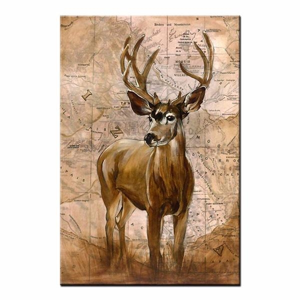 Framed Canvas Prints For Living Room Red Deer Wall Art Canvas In Deer Canvas Wall Art (View 19 of 20)