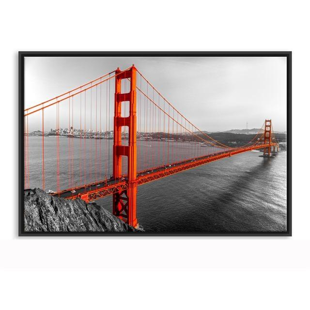 Framed Canvas Wall Art Golden Gate Bridge San Francisco California In Golden Gate Bridge Canvas Wall Art (View 14 of 20)