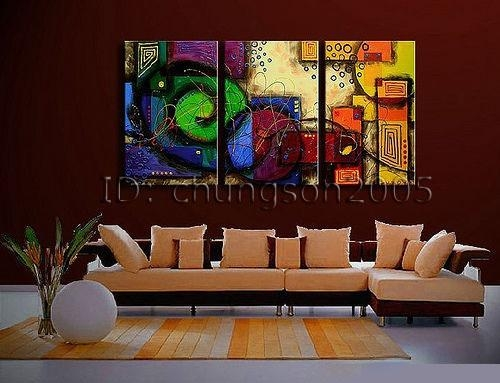 Framed! Modern Abstract Huge Art Oil Painting On Canvas For Sale Regarding Modern Abstract Huge Oil Painting Wall Art (Image 8 of 20)