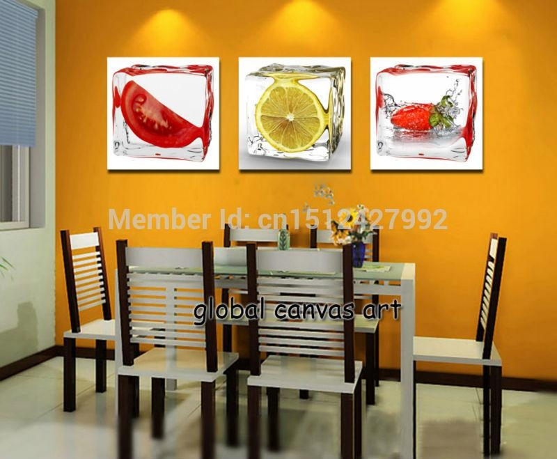 Free Shipping 3 Panel Wall Art Modern Home Decoration Abstract 3D Intended For Abstract Kitchen Wall Art (Image 12 of 20)