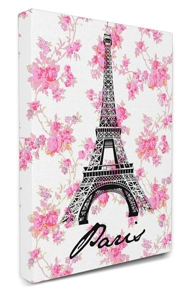 Free Shipping And Returns On Lulusimonstudio Eiffel Tower Flower Inside Eiffel Tower Canvas Wall Art (Image 10 of 20)