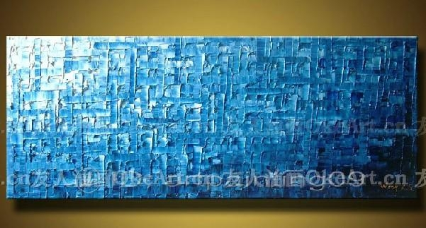 Free Shipping Canvas Wall Art Blue Abstract Painting Modern Decor Inside Blue Canvas Wall Art (Image 12 of 20)