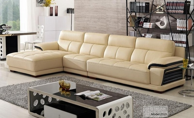 Free Shipping European Modern Leather Sectional Sofa Classical With Regard To Sectional Sofas From Europe (View 7 of 10)