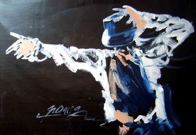 Free Shipping Handmade Modern Abstract Michael Jackson Dance In Michael Jackson Canvas Wall Art (View 8 of 20)