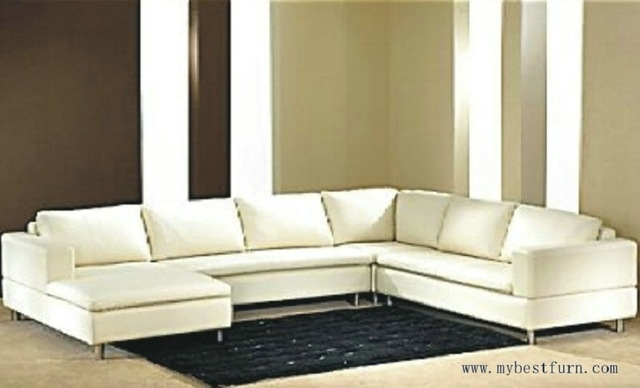Free Shipping Modern Sofa, Top Grain Cattle Leather, Customized Sofa In Customized Sofas (Image 9 of 10)