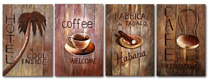 Free Shipping The Coffee Shop Decoration Painting Artwork With With Coffee Canvas Wall Art (View 10 of 20)