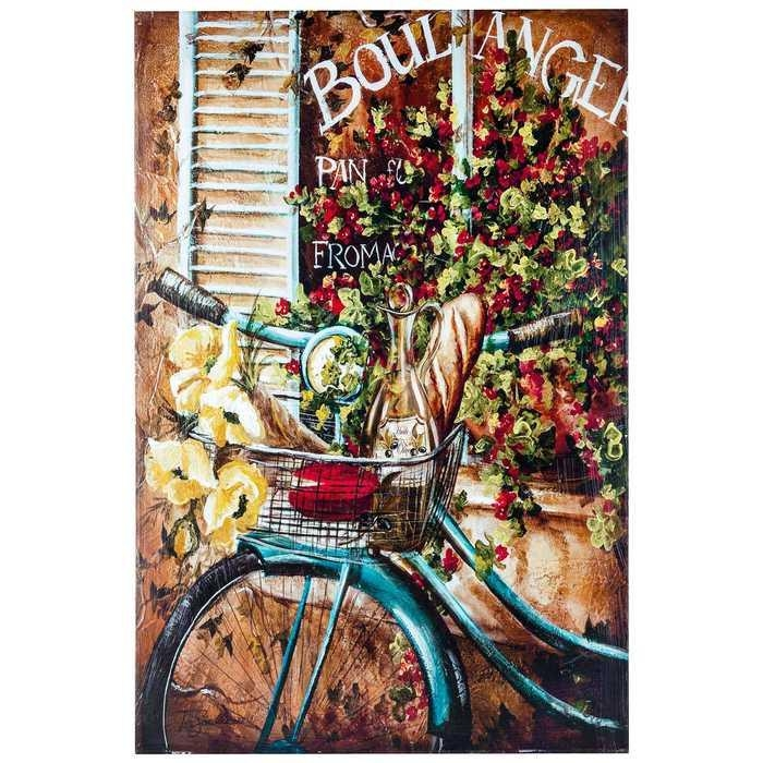 French Bicycle Canvas Wall Art From Hobby Lobby | Nobody Likes With Regard To Canvas Wall Art At Hobby Lobby (Image 10 of 20)