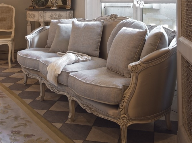 French Style Sofa In Linen Fabric Decorating Ideas Gray Decor Paris Inside French Style Sofas (Image 6 of 10)