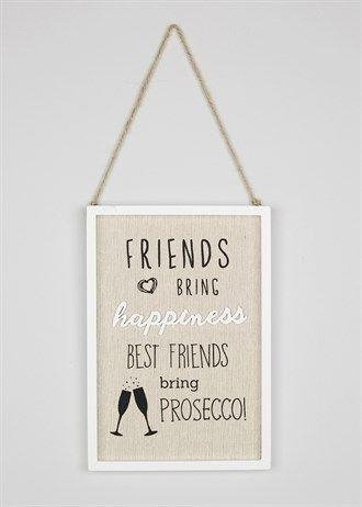 Friends' Quote Hanging Sign (26Cm X 18Cm) – Matalan | Hanging Inside Matalan Canvas Wall Art (View 16 of 20)