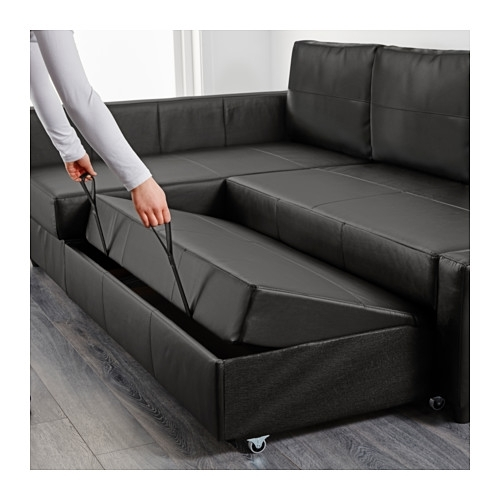 Friheten Corner Sofa Bed With Storage Bomstad Black – Ikea Pertaining To Ikea Corner Sofas With Storage (Image 5 of 10)
